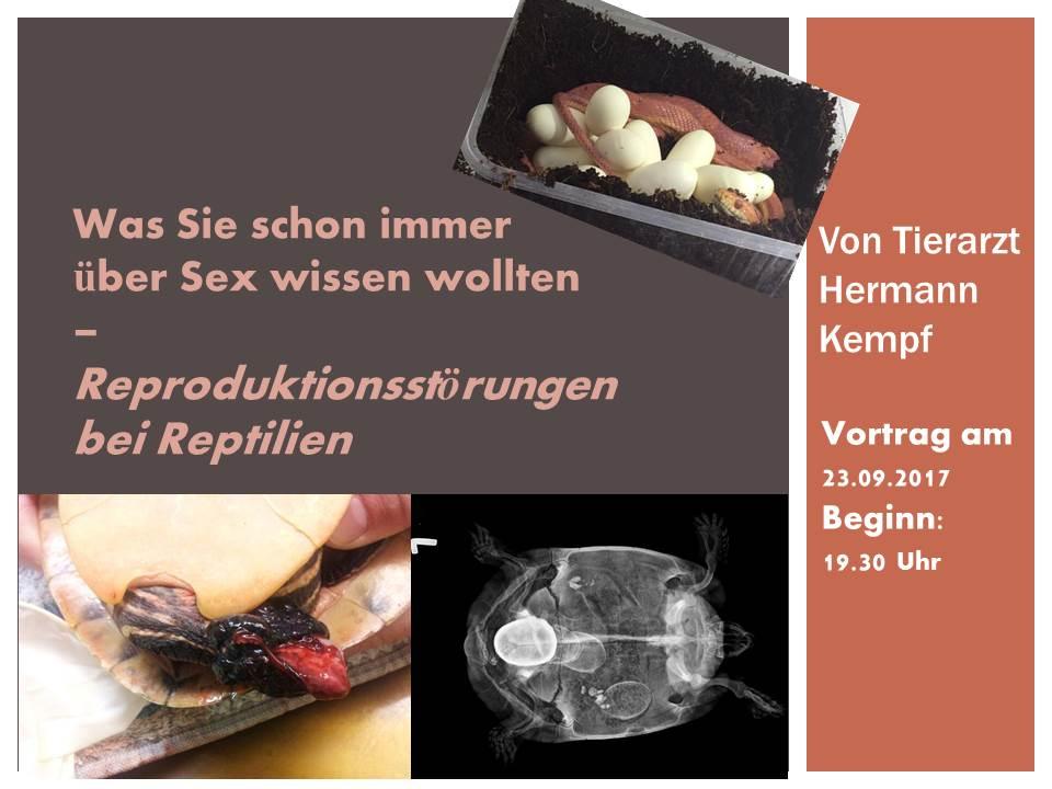 Vortrag - Reproduktionsstörungen bei Reptilien